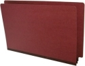 "End Tab Pressboard Folders, Legal Size, 2"" exp, Fasteners Pos #1 & #3, Brick Red (Box of 25)"