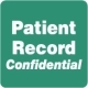 HIPAA Labels, Patient Record Confidential - Green, 2&#34 X 2&#34 (Roll of 500)