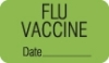 "Chart Labels, FLU VACCINE - Fl Green, 1-1/2"" X 7/8"" (Roll of 250)"