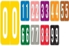 GBS Compatible Numeric Labels, Laminated Stock, 1-5/16&#34 X 1-1/4&#34 Individual Numbers - Roll of 550