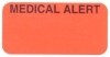 "Reminder Labels, MEDICAL ALERT - Fl Red, 1-1/2"" X 3/4"" (Roll of 250)"