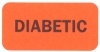 "Reminder Labels, DIABETIC - Fl Red, 1-1/2"" X 3/4"" (Roll of 250)"