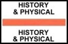 "Stick On Index Tabs, HISTORY & PHYSICAL (Orange) 1-1/2"" X 3/4"" (Pkg of 100)"