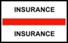 "Stick On Index Tabs, INSURANCE (Red) 1-1/2"" X 3/4"" (Pkg of 100)"