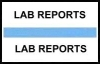"Stick On Index Tabs, LAB REPORTS (Lt Blue) 1-1/2"" X 3/4"" (Pkg of 100)"