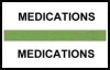 "Stick On Index Tabs, MEDICATIONS (Lt Green) 1-1/2"" X 3/4"" (Pkg of 100)"