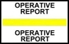 "Stick On Index Tabs, OPERATIVE REPORT (Yellow) 1-1/2"" X 3/4"" (Pkg of 100)"