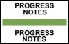 "Stick On Index Tabs, PROGRESS NOTES (Lt Green) 1-1/2"" X 3/4"" (Pkg of 100)"