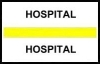 "Stick On Index Tabs, HOSPITAL (Yellow) 1-1/2"" X 3/4"" (Pkg of 100)"