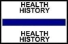 "Stick On Index Tabs, HEALTH HISTORY (Dk Blue) 1-1/2"" X 3/4"" (Pkg of 100)"