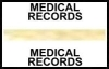 "Stick On Index Tabs, MEDICAL RECORDS (Gold) 1-1/2"" X 3/4"" (Pkg of 100)"