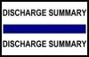 "Stick On Index Tabs, DISCHARGE SUMMARY (Dk Blue) 1-1/2"" X 3/4"" (Pkg of 100)"