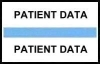"Stick On Index Tabs, PATIENT DATA (Lt Blue) 1-1/2"" X 3/4"" (Pkg of 100)"