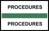 "Stick On Index Tabs, PROCEDURES (Dk Green) 1-1/2"" X 3/4"" (Pkg of 100)"