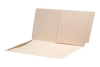 11 pt Manila Folders, Full Cut End Tab, Letter Size, 1/2 Pocket Inside Back, Fastener Pos #3 (Box of 50)