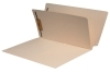 11 Pt. Manila Folders, Full Cut End Tab, Letter Size, 1/2 Pocket Insite Front, 1 Divider Installed (Box of 50)