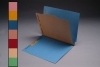 18 Pt. Color Classification Folders, Full Cut End Tab, Letter Size, 1 Divider, Bonded Fasteners (Box of 15)