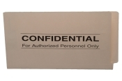 Confidential Printed End Tab Manila Folders
