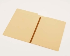 14 pt Manila Folders, Full Cut End Tab, Letter Size, Upside Down Double Pockets Inside Front, U-File-M Strip (Box of 50)