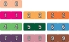 "Data File Compatible Mini Numeric Labels, Laminated Stock, 7/16"" X 1-1/4"" Individual Numbers - Roll of 500"