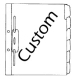 Ecom Custom Fileback Dividers, 6 Tabs Per Set (Price Per Set)