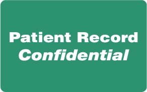 """S-8013 - HIPAA Labels, Patient Record Confidential - Green, 4"""" X 2.5"""" (Roll of 100)"""
