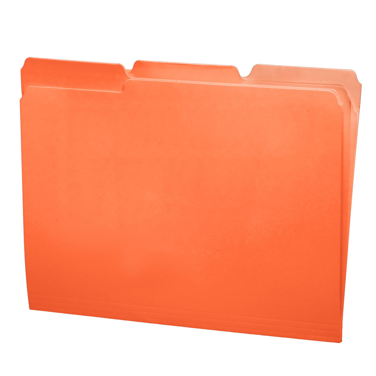 S-30503-ORG - 11 pt Orange Folders, 1/3 Cut Top Tab - Assorted, Letter Size (Box of 100)
