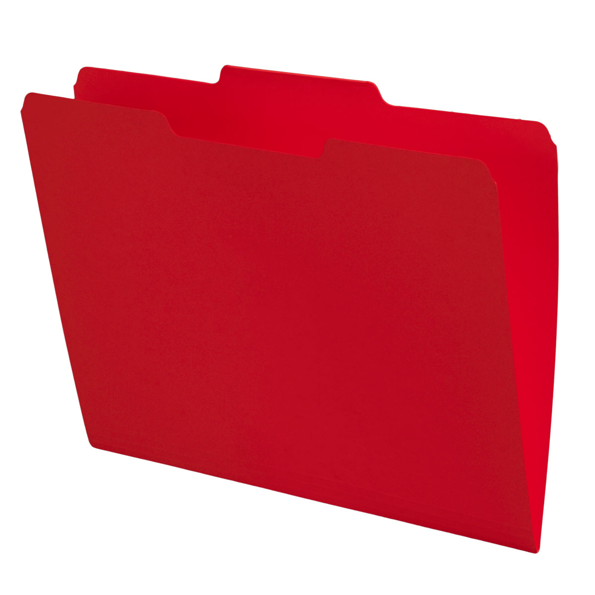 Red Top Tab Folders, 1/3 Cut, Center Position