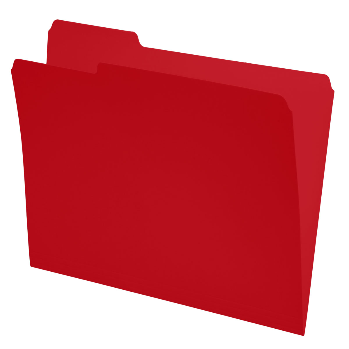 Red Top Tab Folders, 1/3 Cut, Left Position