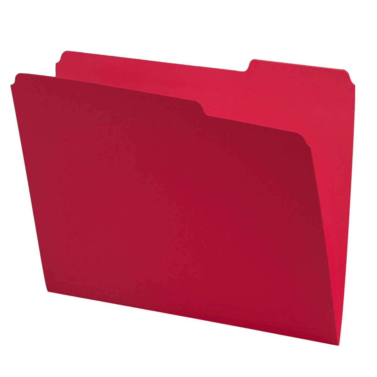 Red Top Tab Folders, 1/3 Cut, Right Position