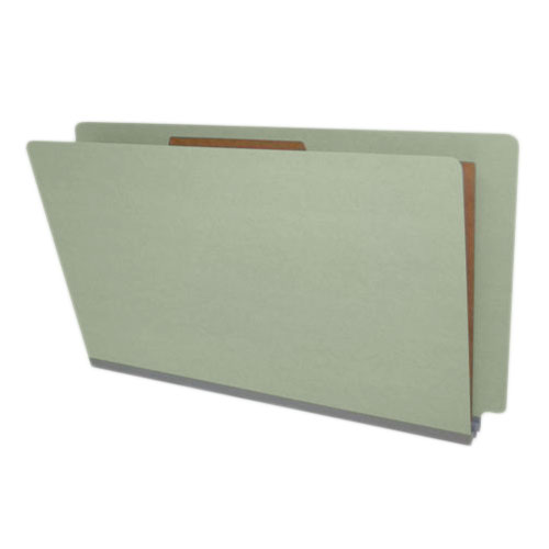 DV-S52-14-2GRY - Type II Pressboard Classification Folders, Full Cut End Tab, Legal Size, 1 Divider, Gray Green (Box of 10)