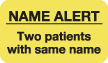"S-1050 - Attention/Alert Labels, Rh NEGATIVE - Fl Chartreuse, 1-1/2"" X 7/8"" (Roll of 250)"
