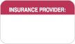 "S-8063 - Insurance Labels, INSURANCE PROVIDER - Red/White, 1-1/2"" X 7/8"" (Roll of 250)"