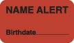 """S-1180 - Attention/Alert Labels, NAME ALERT - Fl Red, 1-1/2"""" X 7/8"""" (Roll of 250)"""