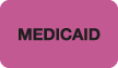 "S-8066 - Insurance Labels, MEDICAID - Fl Pink, 1-1/2"" X 7/8"" (Roll of 250)"