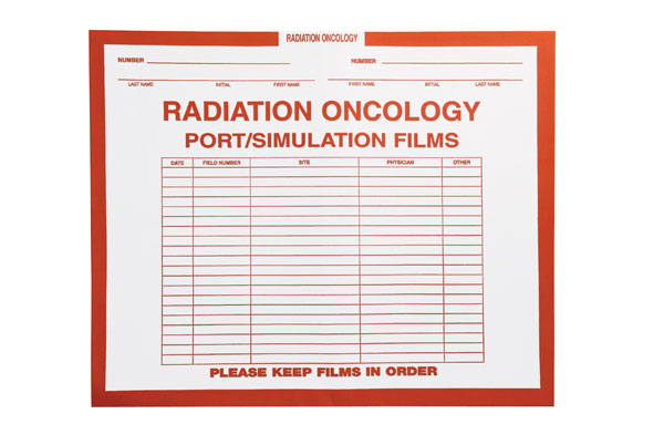 "S-10283 - Radiation Oncology, Orange #165 - Category Insert Jackets, System I, Open Top - 14-1/4"" x 17-1/2"" (Carton of 250)"
