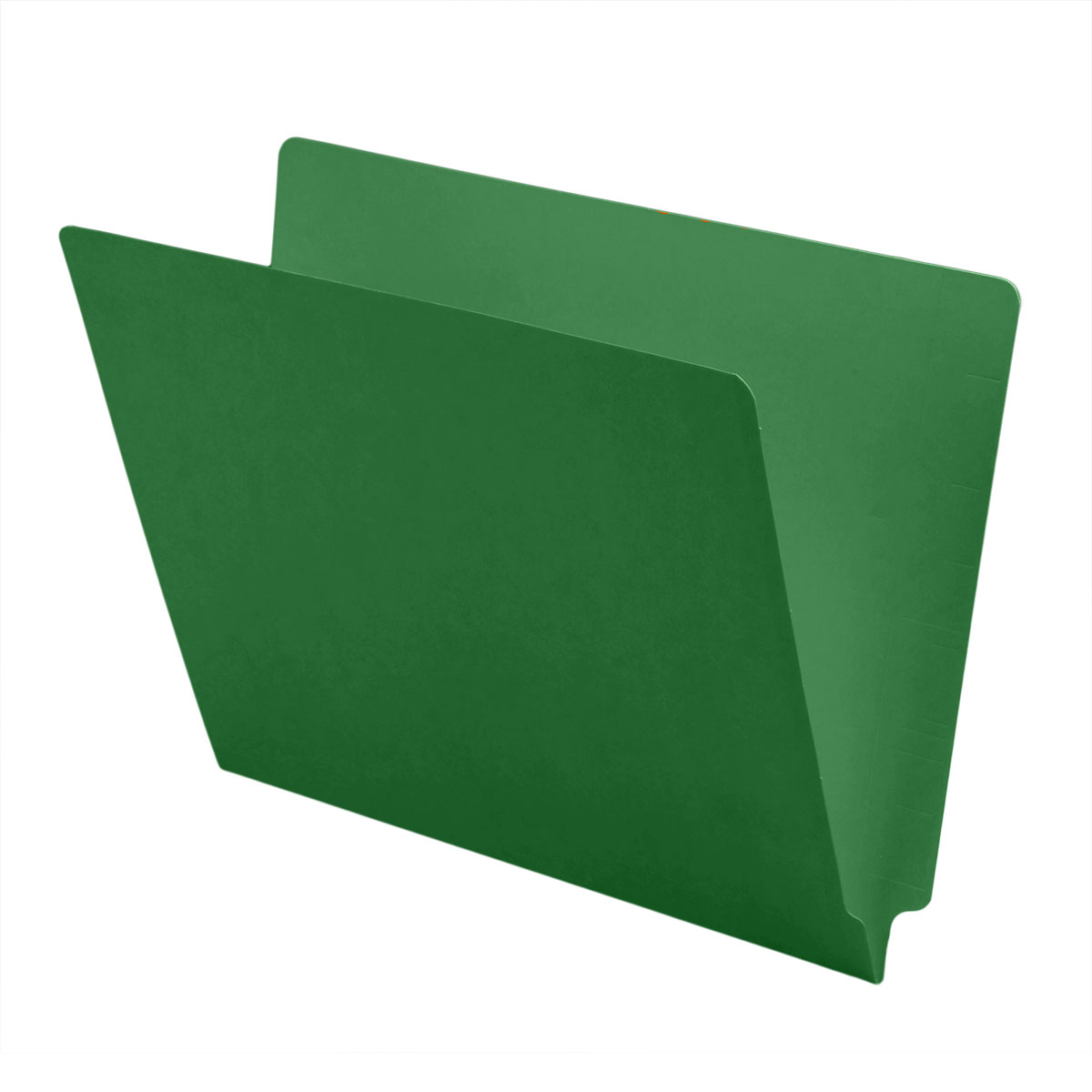 S-1500-GRN - 11 pt Color Folders, Full Cut 2-Ply End Tab, Letter Size, Green (Box of 100)