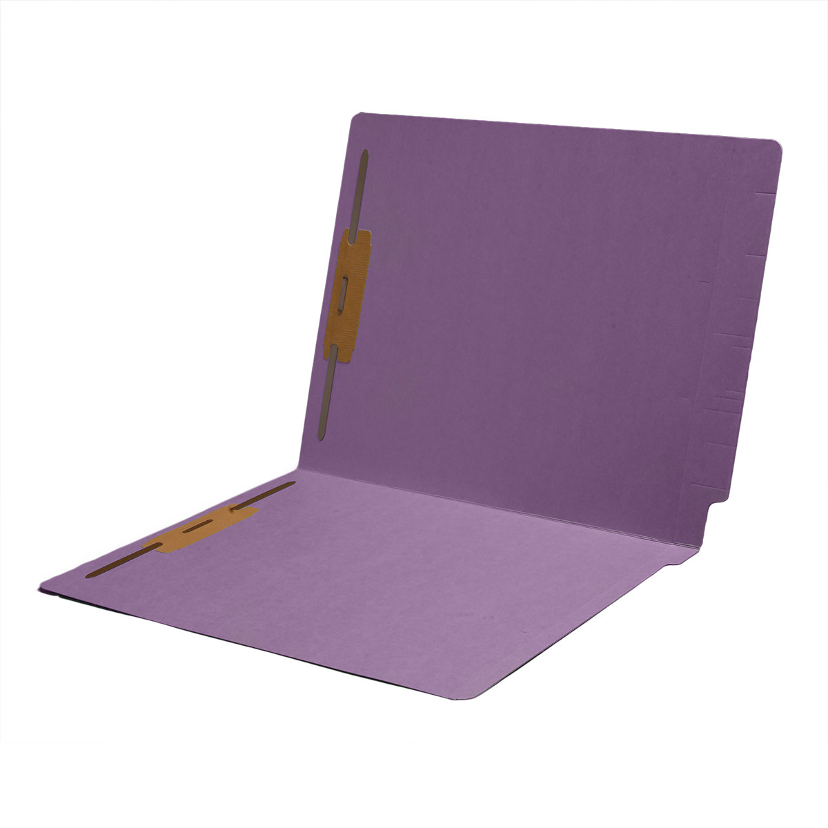 S-1502-LAV - 11 pt Color Folders, Full Cut 2-Ply End Tab, Letter Size, Fasteners Pos #1 & #3, Lavender (Box of 50)