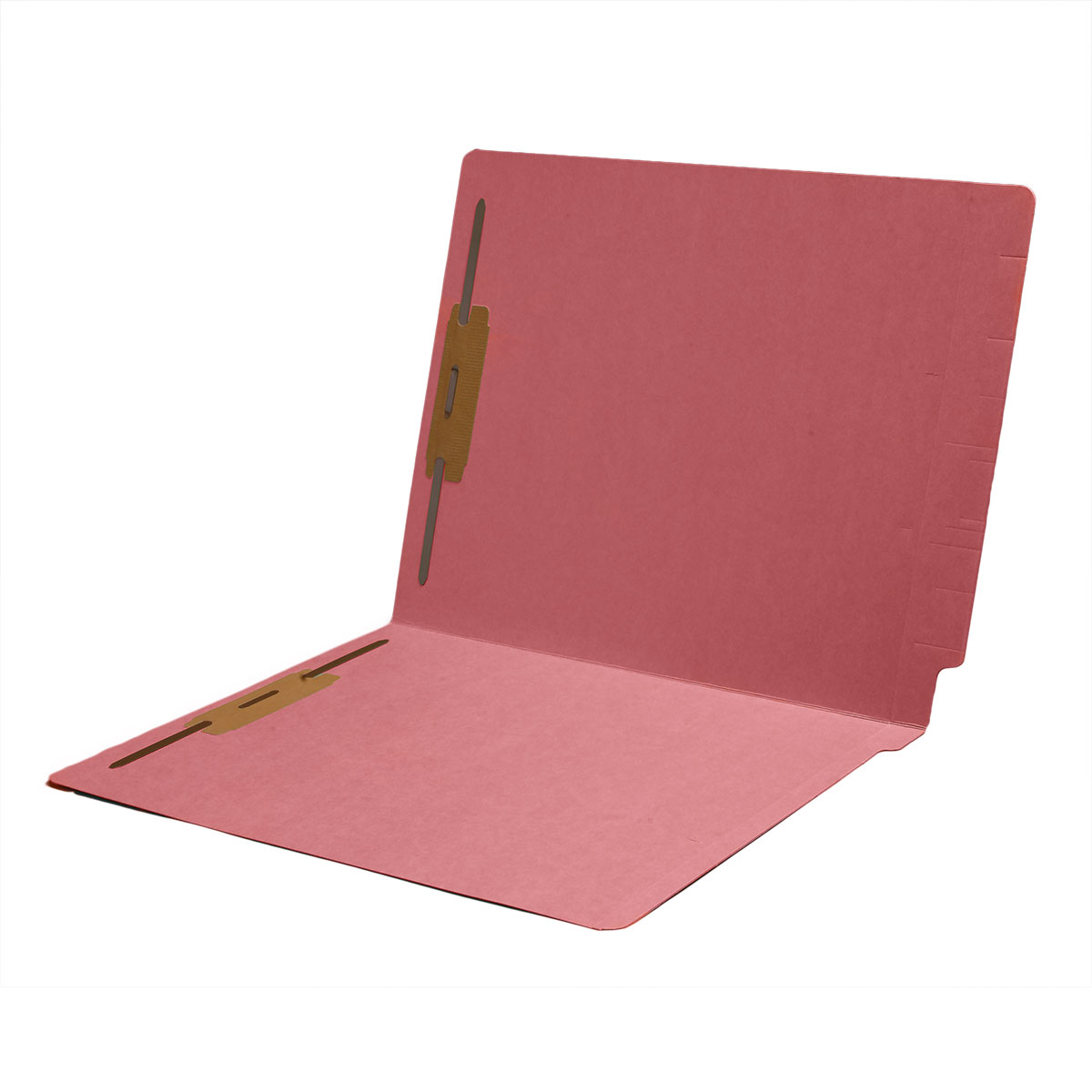 S-1502-PNK - 11 pt Color Folders, Full Cut 2-Ply End Tab, Letter Size, Fasteners Pos #1 & #3, Pink (Box of 50)