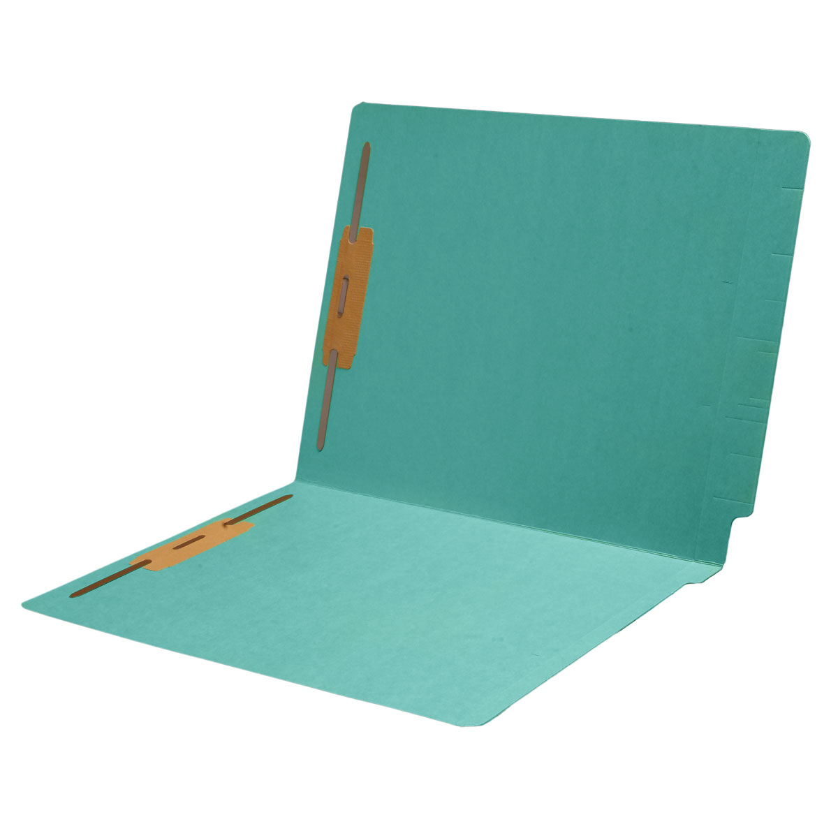 S-1502-STBLU - 11 pt Color Folders, Full Cut 2-Ply End Tab, Letter Size, Fasteners Pos #1 & #3, Sterling Blue (Box of 50)