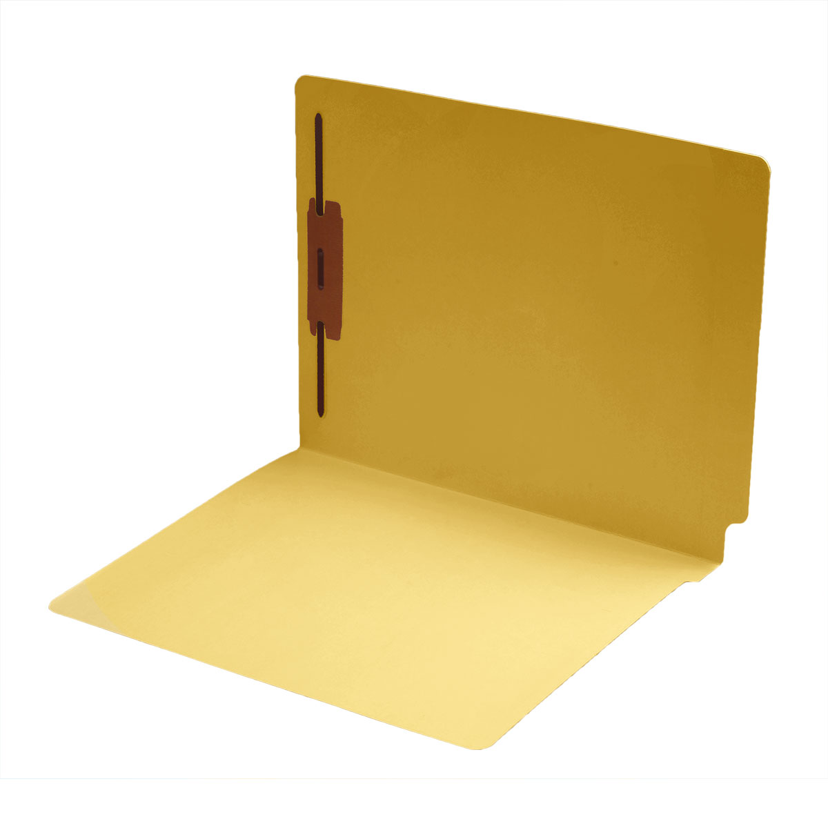 S-1601-YLW - 14 pt Color Folders, Full Cut 2-Ply End Tab, Letter Size, Fastener Pos #1, Yellow (Box of 50)