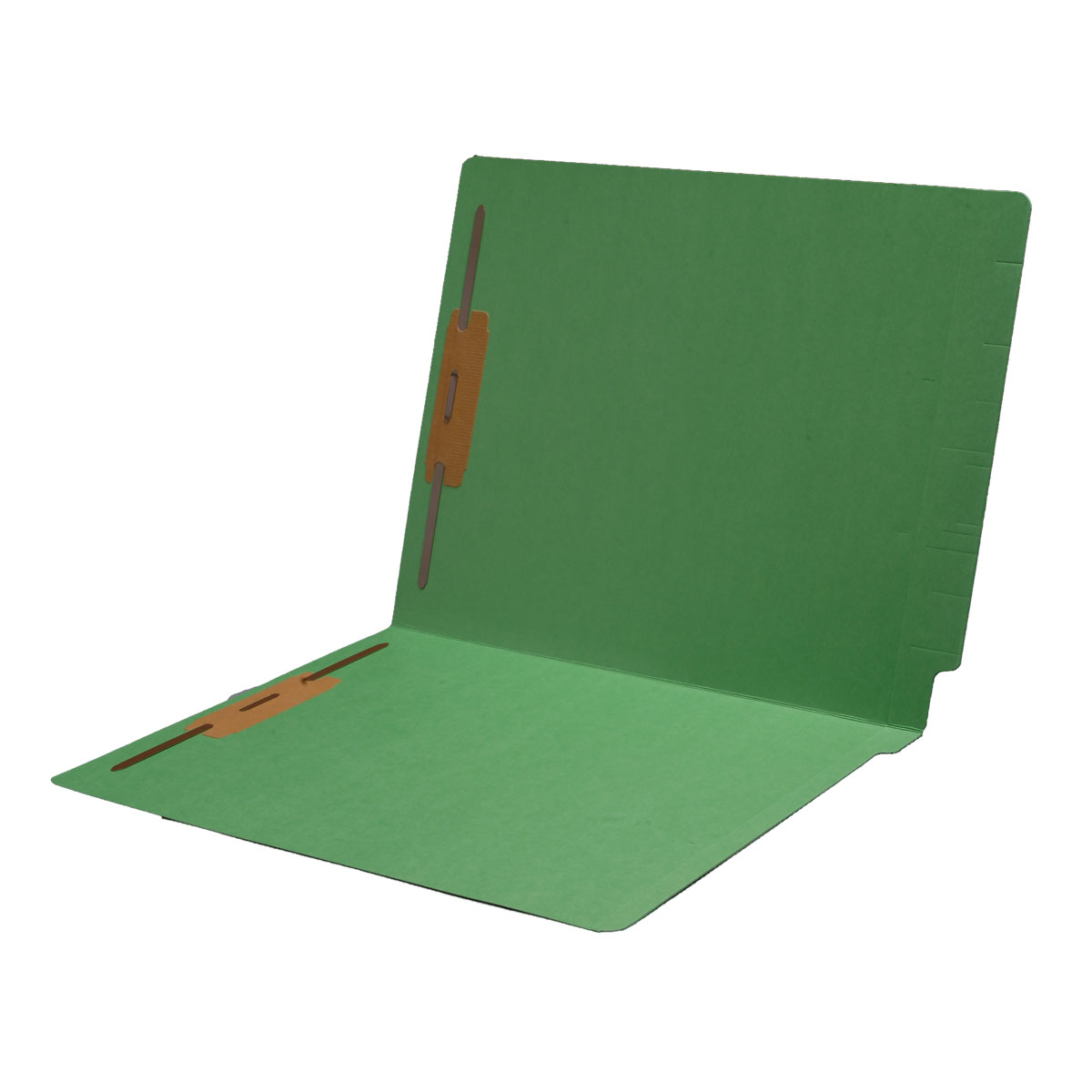 S-1602 - 14 pt Color Folders, Full Cut 2-Ply End Tab, Letter Size, Fastener Pos #1 & #3 (Box of 50)
