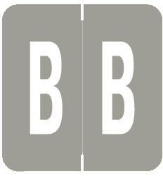 S-1900A-B - GBS Compatible Alpha Labels, Letter