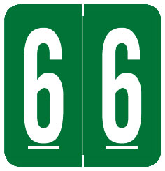 S-1900N-6 - GBS Compatible Numeric Labels, Number