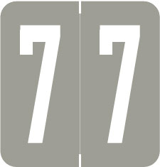 S-1900N-7 - GBS Compatible Numeric Labels, Number