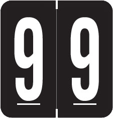 S-1900N-9 - GBS Compatible Numeric Labels, Number