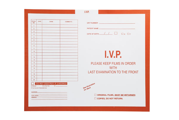 "S-19521 - I.V.P., Orange #165 - Category Insert Jackets, System II, Open Top - 14-1/4"" x 17-1/2"" (Carton of 250)"