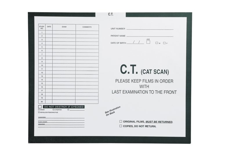 "S-28911 - C.T. (Cat Scan), Kelly Green #568 - Category Insert Jackets, System I, Open Top - 14-1/4"" x 17-1/2"" (Carton of 250)"