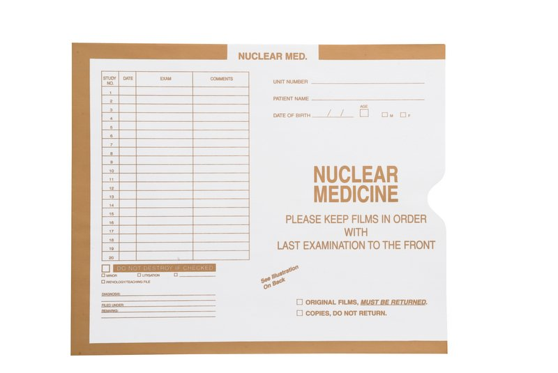"S-37167 - Nuclear Medicine, Manila #134 - Category Insert Jackets, System II, Open End - 10-1/2"" x 12-1/2"" (Carton of 500)"