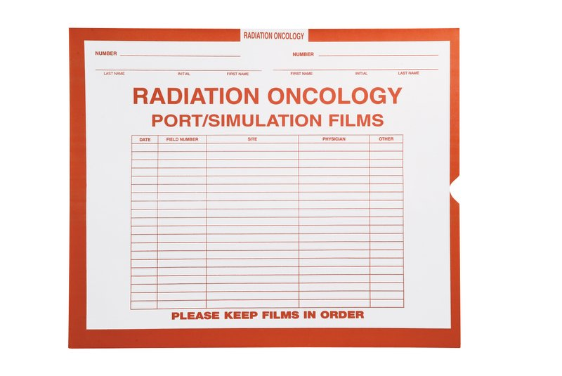 """S-45615 - Radiation Oncology, Orange #165 - Category Insert Jackets, System I, Open End - 14-1/4"""" x 17-1/2"""" (Carton of 250)"""
